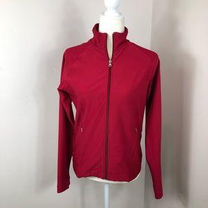 Lucy Red Zip Up Vital Jacket Medium